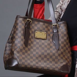 LOUIS VUITTON Damier Canvas Hampstead GM Bag